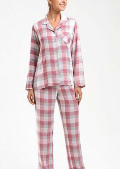 Adelina Maskülen Pijama Takımı - PEMBE EKOSELİ Bloom Coffee, Dark Flowers, Mavis, Superstar, Plaid, Model, Fashion, Gingham, Moda