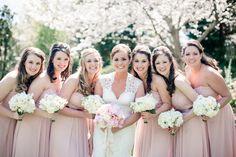 bridesmaids in pink   Watson Studios #wedding