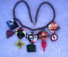 Marilyn Manson Necklace MADE TO ORDER Spooky by MirroredOpposites, $15.00