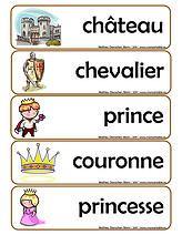 moncartable | Présco - Mots-étiquettes thème Châteaux
