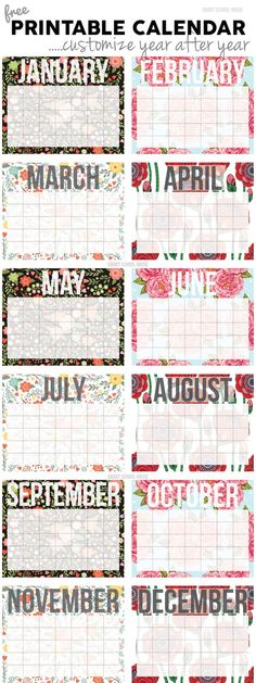 Beautiful 2015 Printable Calendar!
