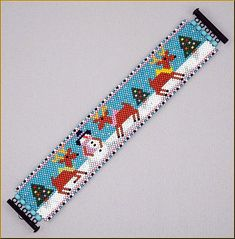 Reindeer Wonderland Peyote Bracelet Pattern by Kristy by Kristyz
