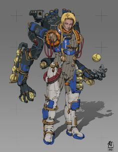 "ArtStation - Frontier Red: Major Bacall ""Pitcher"" Price, William Bao"