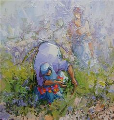 Saim Dursun - Toprak - oil on canvas