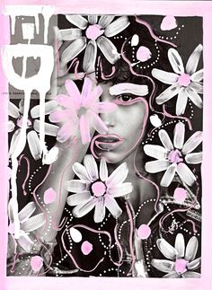 """via Muzli design inspiration. """"Weekly Inspiration for Designers is published by Muzli in Muzli - Design Inspiration. Photography Illustration, Photo Illustration, Graphic Design Illustration, Art Photography, Foto Doodle, Doodle On Photo, Foto Pop Art, Collage Art, Collages"""