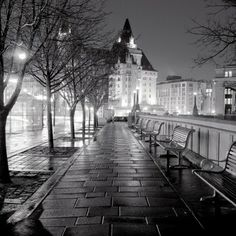 Spring Night Walk by Jordan Craig, Black and White Archival Print, Photograph | Koyman Galleries ~ Ottawa