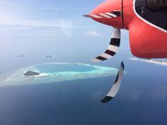 Llegada en hidroavion al Angsana Velavaru
