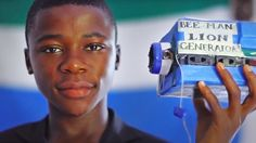 Kelvin the inventor from Sierre Leone. Amazing kid with hope and a vision, the first bit might be good for an intro for a lesson on inventions.