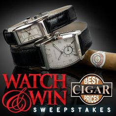 Enter to win two black leather watches. ARV: $3,250