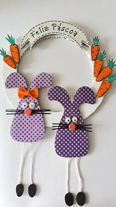 Creative Recycling - Craft and Fun: Creative Recycling for Easter Fun Crafts To Do, Holiday Crafts For Kids, Easter Crafts For Kids, Diy And Crafts, Easy Crafts, Bamboo Art, Easter Activities, Art Activities, Paper Decorations