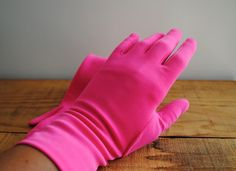 Vintage Gloves  Fownes Pink Gloves Nylo Retro Hot by labiblioteca, $22.00 Vintage Gloves, Vintage Bags, Vintage Ladies, Pink Gloves, Dress Gloves, Mitten Gloves, Mittens, Vintage Accessories, Hot Pink
