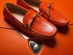 Car Shoe X Lamborghini 50th Anniversary Bull Leather classic driving moccasin