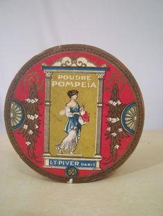 1920-1930 L T Piver French powder box - Google Search