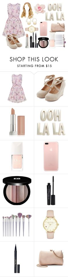 """Pastel Daydream"" by marisa-heine ❤ liked on Polyvore featuring Maybelline, Kate Spade, Christian Dior, Edward Bess, Smashbox, Stila, LC Lauren Conrad and Witchery"
