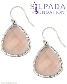 The Silpada Foundation selection. For each pair sold, $10 will be given to women in need. Glass, Sterling Silver.