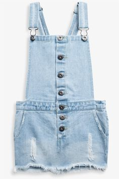 This awesome pinafore dress will be the perfect dress for all seasons. Crafted in our signature denim with trash detailing, this dress is great for the summer with a tee and thongs and for the cooler Months, style with tights and a long sleeve top.