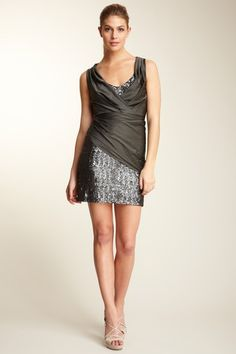 Nicole Miller  Sequin & Pleat Detailed Dress  $575.00