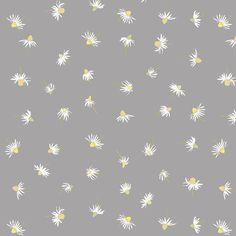 chamomile_grey fabric by katarina on Spoonflower - custom fabric