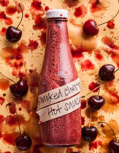 Another idea for nanking cherries! smoked_cherry_hot_sauce_620x800