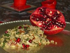 Clean Eating Gluten Free Thanksgiving Pomegranate Quinoa Stuffing (with Vegetarian option)