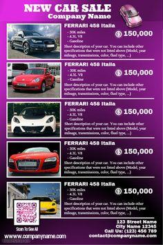 41 best car dealer flyer diy images on pinterest poster