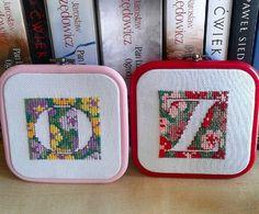 Znowu literki...#alfabet #literkao #literkaz #haftkrzyżykowy #literki #alphabet #lettero #letterz #stichcross #embroidery #letters