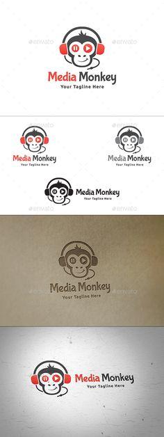 Media Monkey Logo — Vector EPS #multimedia #studio • Available here → https://graphicriver.net/item/media-monkey-logo/13851821?ref=pxcr