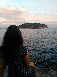Vistas de Lokrum desde Dubrovnik, Croacia