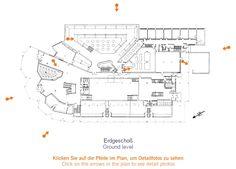 Ground Level Plan : Wolfsburg Cultural Center, Germany (1958-62) | Alvar Aalto
