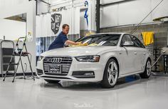 Time to get this brand new Audi S4 shined up & protected with the help of a New Car Detail plus Full Frontal XPEL clear bra!