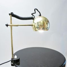 Gilted desk lamp 1970