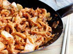 Kimchi Chicken and Cabbage Stir Fry #recipe