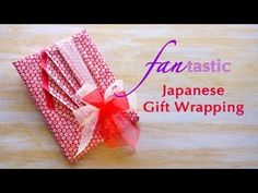 ▶ FAN-tastic Japanese Gift Wrapping - YouTube. Pretty. I'd use some beautiful simple paper, and leave the bows off.