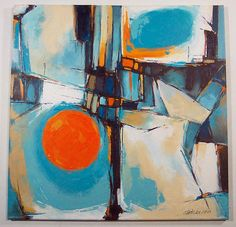 Image result for modern abstract  art colorful with blue