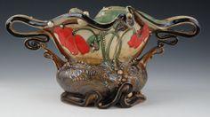 "Poppy vase with Four Handles | 9"" x 18"" x 7"" |  Carol Long Pottery"