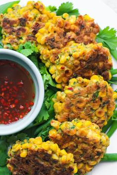 Coriander Sweetcorn Fritters - From The Larder - - These Coriander Sweetcorn Fritters are so lovely bright and fresh full of Thai flavour. Sweetcorn Fritters Recipe, Sweetcorn Bake, Chicken And Sweetcorn Soup, Chicken Pasta, Hot Dog Recipes, Coffee Recipes, Cooking Recipes, Healthy Recipes, Healthy Food