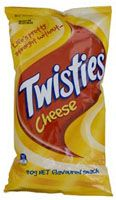 Twisties Cheese 90g. Get em while you can... These never last long. Please note Due to the short expiration on chips you may recieve them past date. We have continued to import this snack line due to the requests from our customers. Enjoy.