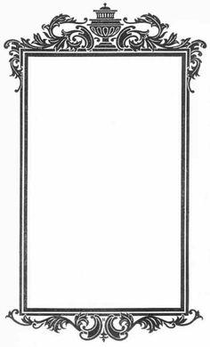 vintage ornate frame- design for proscenium Printable Designs, Printable Art, Wedding Drawing, Scrapbook Background, Frame Clipart, Borders And Frames, Vintage Labels, Digi Stamps, Vintage Frames