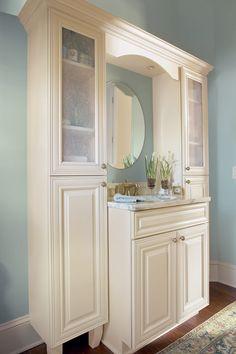 Sierra Vista Painted Maple Cream Glaze Powder Room | Timberlake Cabinetry