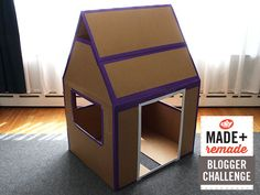 Make a kids fort from a cardboard box >> http://blog.diynetwork.com/maderemade/how-to/make-a-weatherproof-cardboard-box-fort?soc=pinterest
