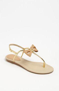 kate spade new york 'trendy' sandal in Gold Specchio