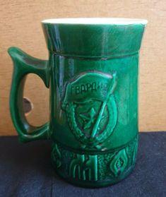 Vintage USSR porcelain big large beer mug Guard Gvardia Smolensk