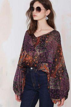 Vintage Estelle Chiffon Blouse - Clothes | All | Tops