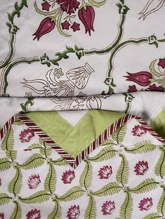 Buy White-Multicolor Handblock Printed Cotton Flannel Single Dohar (91in x 56in) Online at Jaypore.com Shopping Coupons, Doha, Block Prints, Printed Cotton, Flannel, Quilts, Stuff To Buy, Flannels, Comforters