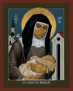 Image of patron saint of social workers Catholic Saints, Patron Saints, Art Icon, Religious Art, Little Sisters, Religion, Hero, Christian, Image