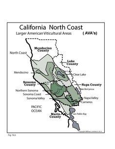 Wine Regions Of Californias North Central Coast Wine - Us north coast map