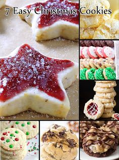 7 Easy Christmas Cookies - Perfect for christmas party or gift