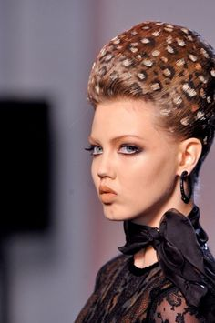 animalier inspired hairporn at Jean Paul Gaultier fashion show 2013...Prowess!!