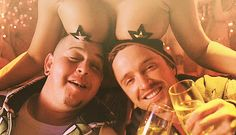 """This shot of Jesse and Combo hanging out. 