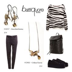 Battiquore Milano | Outfit Idea with Karma's Earrings and Necklace